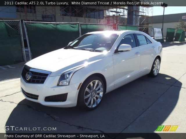 white diamond tricoat 2013 cadillac ats 2 0l turbo luxury morello red jet black accents. Black Bedroom Furniture Sets. Home Design Ideas