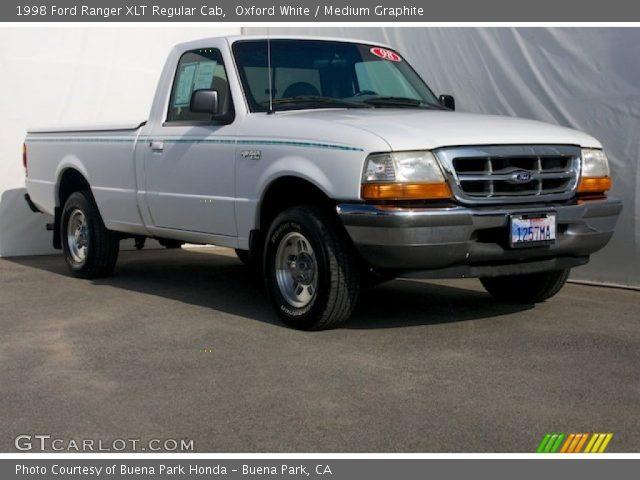 oxford white 1998 ford ranger xlt regular cab medium graphite interior. Black Bedroom Furniture Sets. Home Design Ideas