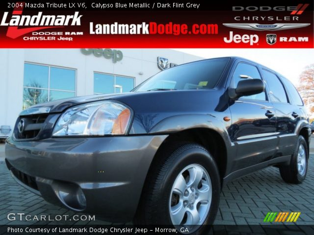 calypso blue metallic 2004 mazda tribute lx v6 dark. Black Bedroom Furniture Sets. Home Design Ideas