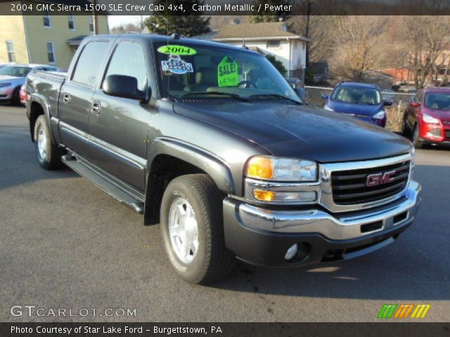carbon metallic 2004 gmc sierra 1500 sle crew cab 4x4. Black Bedroom Furniture Sets. Home Design Ideas