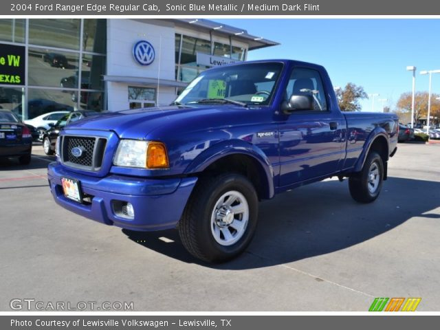 sonic blue metallic 2004 ford ranger edge regular cab medium dark flint interior gtcarlot. Black Bedroom Furniture Sets. Home Design Ideas