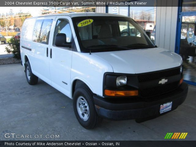 summit white 2004 chevrolet express 3500 cargo van. Black Bedroom Furniture Sets. Home Design Ideas