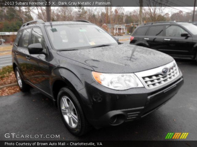 dark gray metallic 2013 subaru forester 2 5 x platinum interior vehicle. Black Bedroom Furniture Sets. Home Design Ideas
