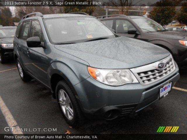 sage green metallic 2013 subaru forester 2 5 x black interior vehicle. Black Bedroom Furniture Sets. Home Design Ideas