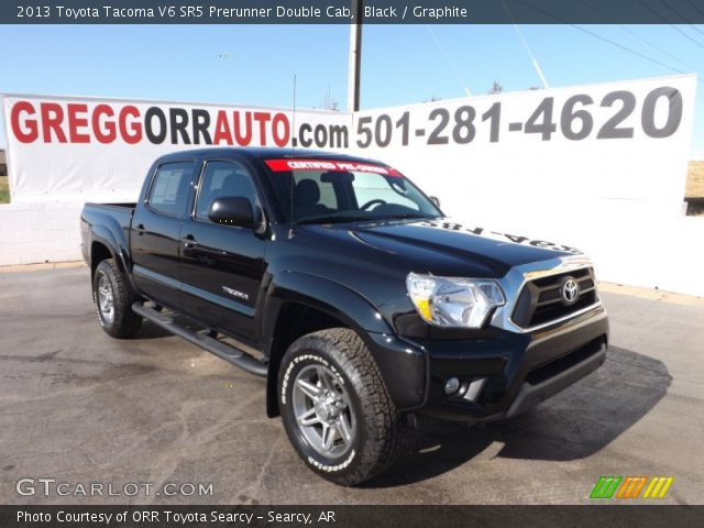 black 2013 toyota tacoma v6 sr5 prerunner double cab graphite interior. Black Bedroom Furniture Sets. Home Design Ideas