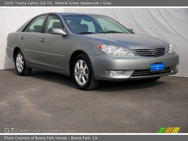 mineral green opalescent 2005 toyota camry xle v6 gray interior vehicle. Black Bedroom Furniture Sets. Home Design Ideas