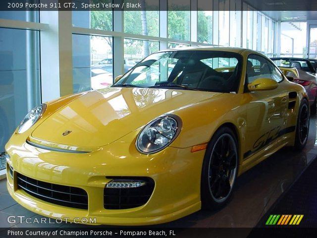 speed yellow 2009 porsche 911 gt2 black interior. Black Bedroom Furniture Sets. Home Design Ideas