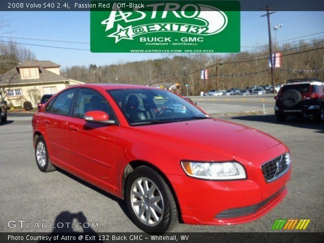 passion red 2008 volvo s40 off black interior vehicle archive 73989580. Black Bedroom Furniture Sets. Home Design Ideas