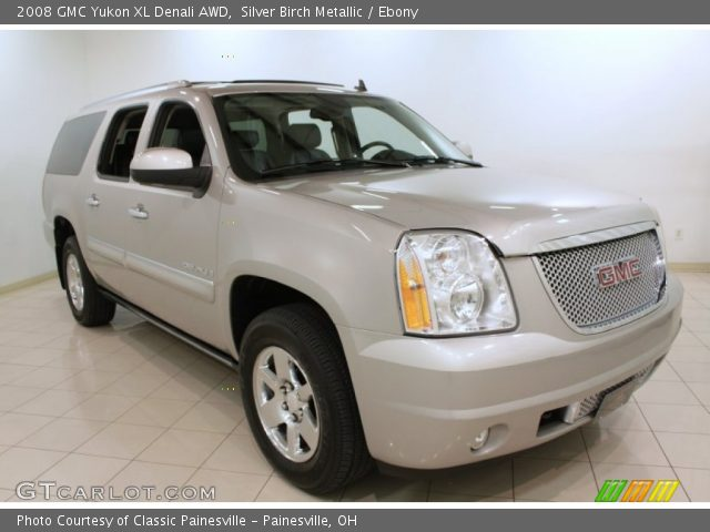 silver birch metallic 2008 gmc yukon xl denali awd ebony interior vehicle. Black Bedroom Furniture Sets. Home Design Ideas