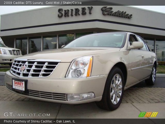 gold mist 2009 cadillac dts luxury shale cocoa. Black Bedroom Furniture Sets. Home Design Ideas