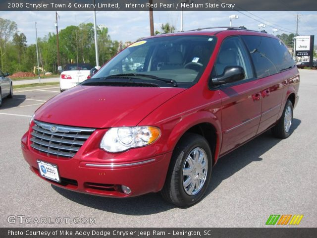 inferno red pearl 2006 chrysler town country limited medium slate gray interior gtcarlot. Black Bedroom Furniture Sets. Home Design Ideas