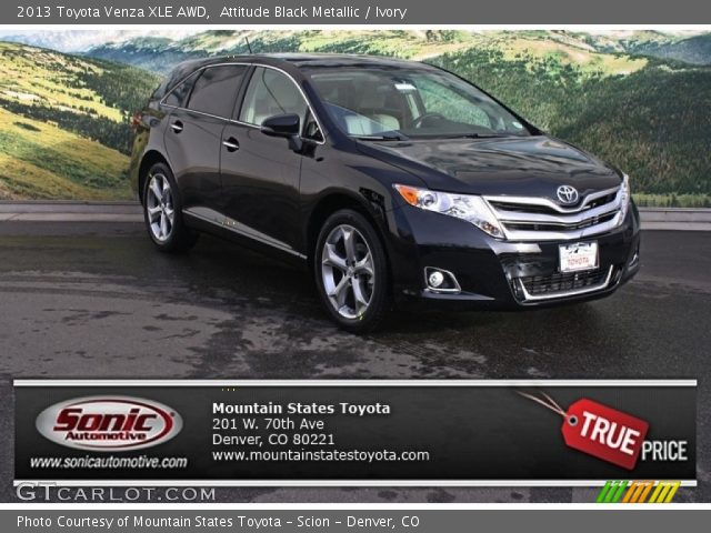 attitude black metallic 2013 toyota venza xle awd. Black Bedroom Furniture Sets. Home Design Ideas