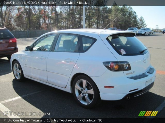 rally white 2005 mazda mazda3 s hatchback black. Black Bedroom Furniture Sets. Home Design Ideas
