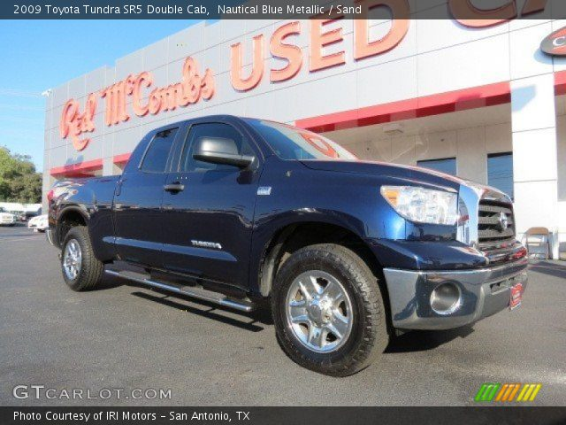 nautical blue metallic 2009 toyota tundra sr5 double cab sand interior. Black Bedroom Furniture Sets. Home Design Ideas
