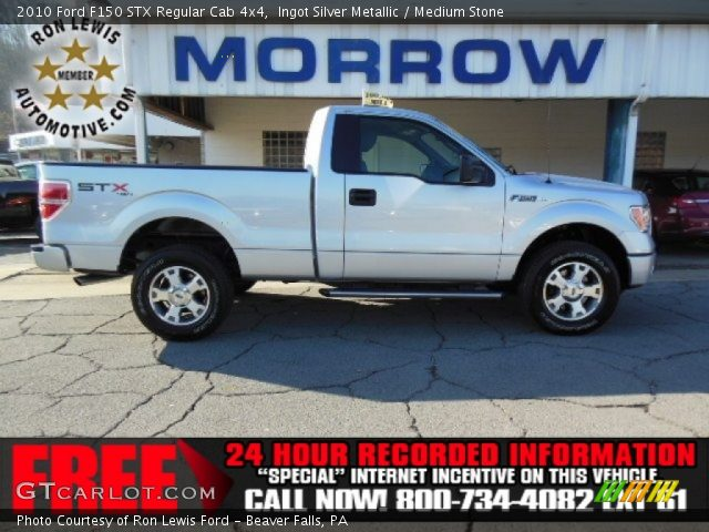 2010 Ford F150 STX Regular Cab 4x4 in Ingot Silver Metallic