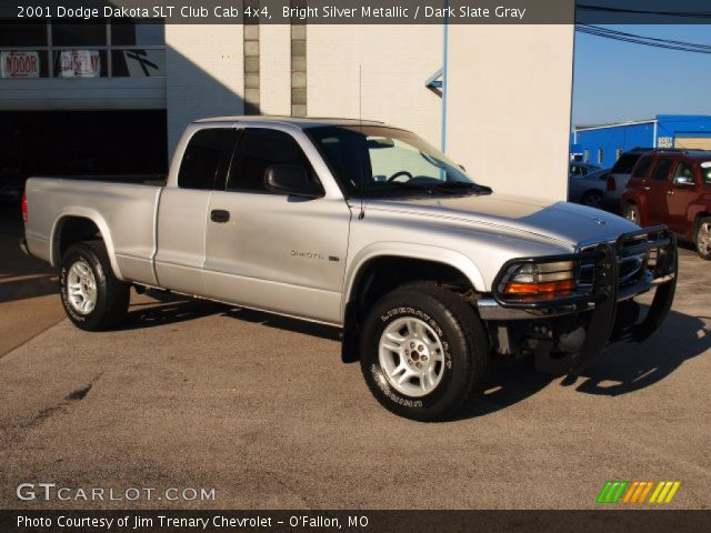bright silver metallic 2001 dodge dakota slt club cab. Black Bedroom Furniture Sets. Home Design Ideas
