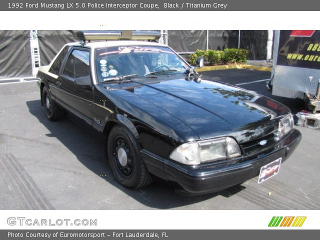 black 1992 ford mustang lx 5 0 police interceptor coupe. Black Bedroom Furniture Sets. Home Design Ideas