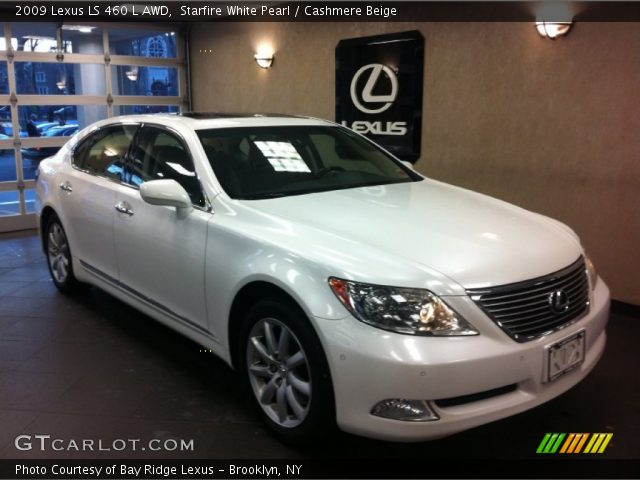 starfire white pearl 2009 lexus ls 460 l awd cashmere. Black Bedroom Furniture Sets. Home Design Ideas