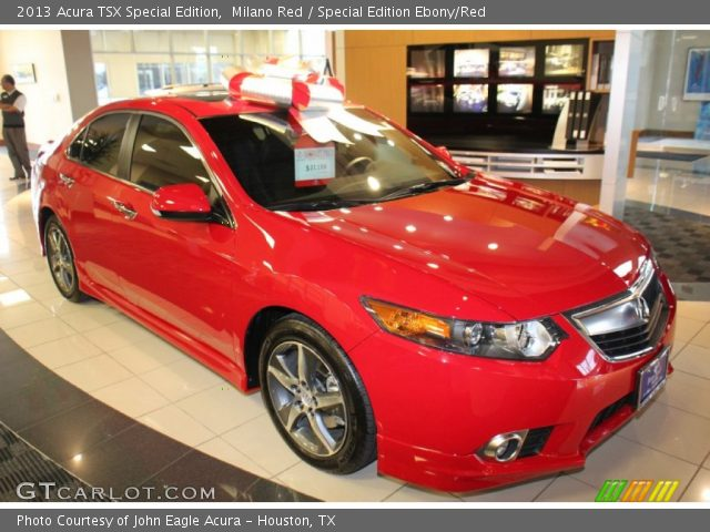 milano red 2013 acura tsx special edition special edition ebony red interior. Black Bedroom Furniture Sets. Home Design Ideas