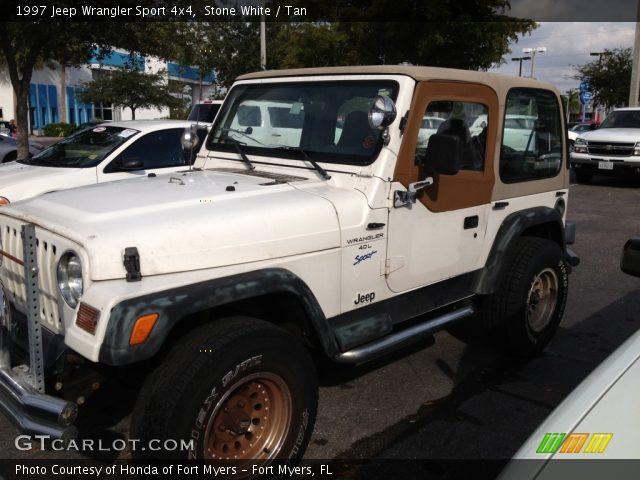 Stone White 1997 Jeep Wrangler Sport 4x4 Tan Interior