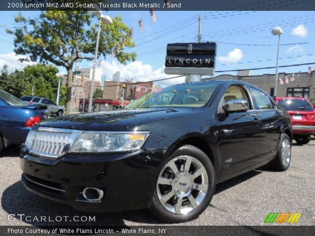 Tuxedo Black Metallic - 2009 Lincoln MKZ AWD Sedan - Sand Interior ...