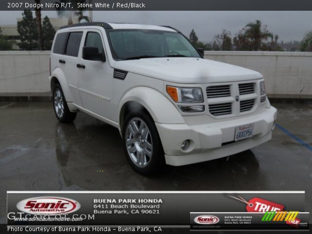 stone white 2007 dodge nitro r t red black interior. Black Bedroom Furniture Sets. Home Design Ideas
