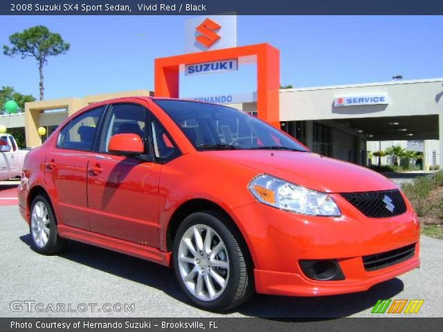 2008 Suzuki SX4 Sport Sedan in Vivid Red