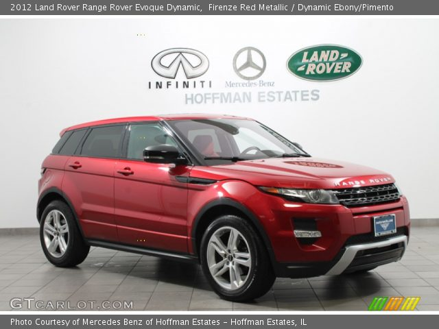 firenze red metallic 2012 land rover range rover evoque. Black Bedroom Furniture Sets. Home Design Ideas