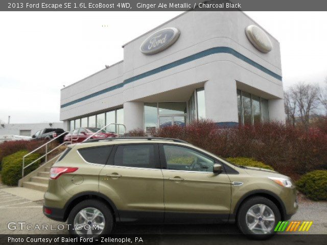 ginger ale metallic 2013 ford escape se 1 6l ecoboost 4wd charcoal black interior gtcarlot. Black Bedroom Furniture Sets. Home Design Ideas