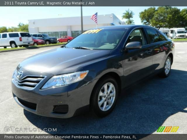 magnetic gray metallic 2011 toyota camry le ash interior vehicle archive. Black Bedroom Furniture Sets. Home Design Ideas