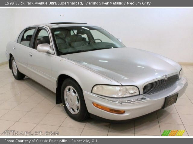 sterling silver metallic 1999 buick park avenue ultra supercharged medium gray interior. Black Bedroom Furniture Sets. Home Design Ideas