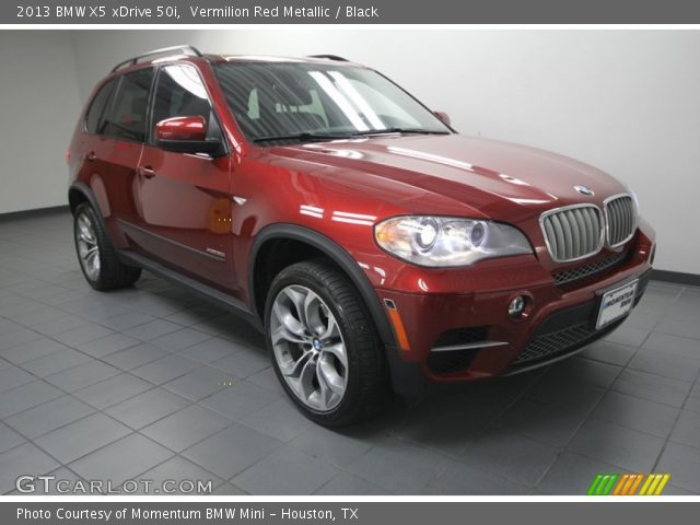 vermilion red metallic 2013 bmw x5 xdrive 50i black interior vehicle. Black Bedroom Furniture Sets. Home Design Ideas