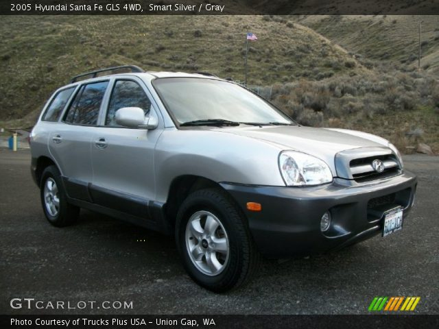 smart silver 2005 hyundai santa fe gls 4wd gray interior vehicle archive. Black Bedroom Furniture Sets. Home Design Ideas