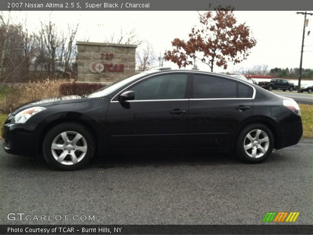 Super Black 2007 Nissan Altima 2 5 S Charcoal Interior Vehicle Archive