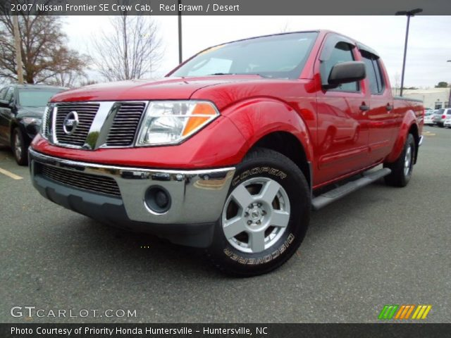 red brawn 2007 nissan frontier se crew cab desert interior vehicle archive. Black Bedroom Furniture Sets. Home Design Ideas