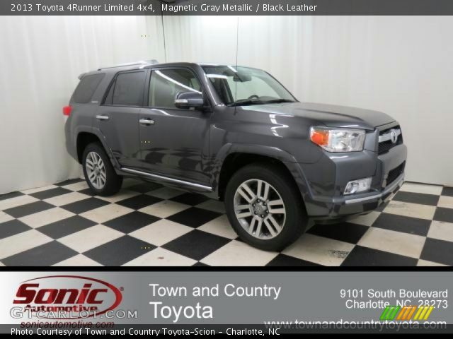 Magnetic Gray Metallic 2013 Toyota 4runner Limited 4x4 Black Leather Interior