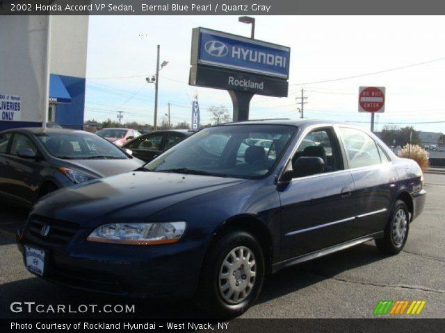 2002 Honda Accord VP Sedan in Eternal Blue Pearl