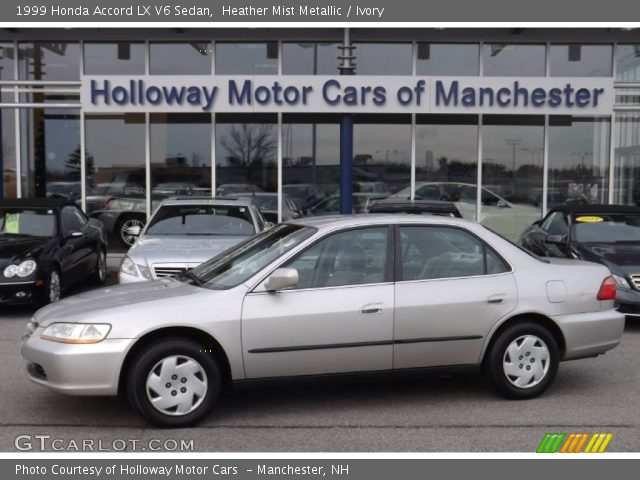 heather mist metallic 1999 honda accord lx v6 sedan ivory interior vehicle. Black Bedroom Furniture Sets. Home Design Ideas