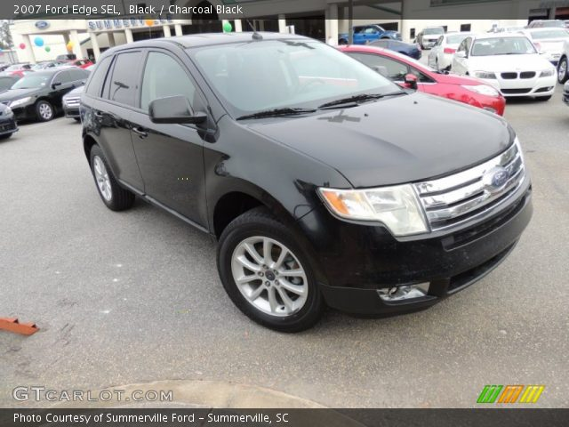 Black 2007 Ford Edge Sel Charcoal Black Interior Vehicle Archive 74489827