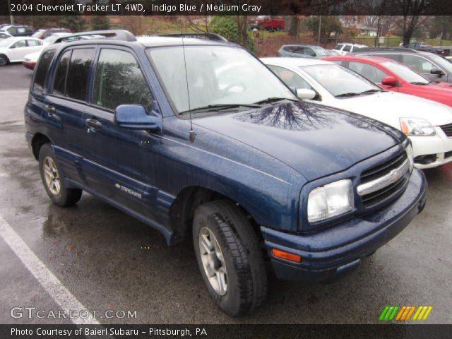 indigo blue 2004 chevrolet tracker lt 4wd medium gray interior vehicle. Black Bedroom Furniture Sets. Home Design Ideas