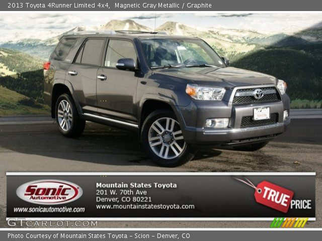 Magnetic Gray Metallic 2013 Toyota 4runner Limited 4x4 Graphite Interior