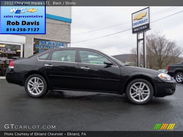 Black - 2012 Chevrolet Impala LTZ - Ebony Interior | GTCarLot.com