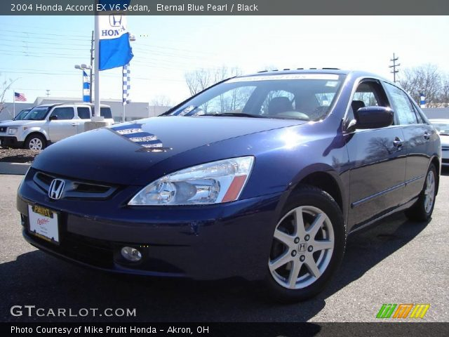 eternal blue pearl 2004 honda accord ex v6 sedan black interior vehicle. Black Bedroom Furniture Sets. Home Design Ideas