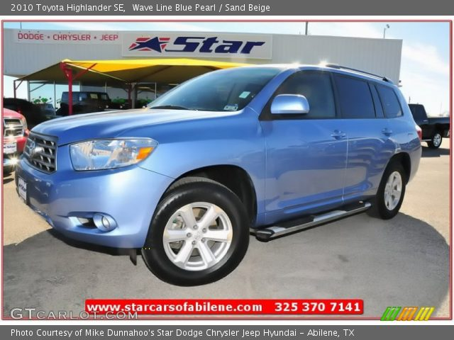wave line blue pearl 2010 toyota highlander se sand. Black Bedroom Furniture Sets. Home Design Ideas