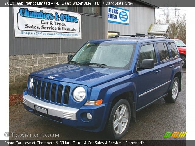 deep water blue pearl 2010 jeep patriot limited 4x4. Black Bedroom Furniture Sets. Home Design Ideas