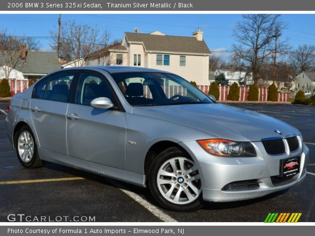 titanium silver metallic 2006 bmw 3 series 325xi sedan black interior. Black Bedroom Furniture Sets. Home Design Ideas