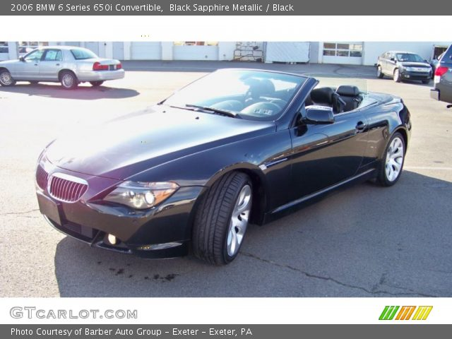 black sapphire metallic 2006 bmw 6 series 650i convertible black interior. Black Bedroom Furniture Sets. Home Design Ideas
