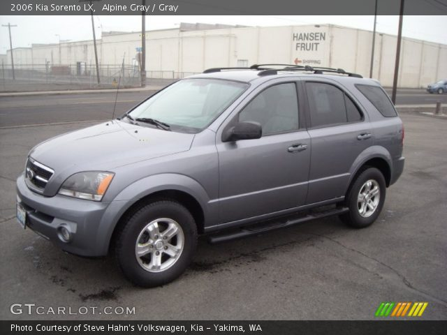 alpine gray 2006 kia sorento lx gray interior. Black Bedroom Furniture Sets. Home Design Ideas