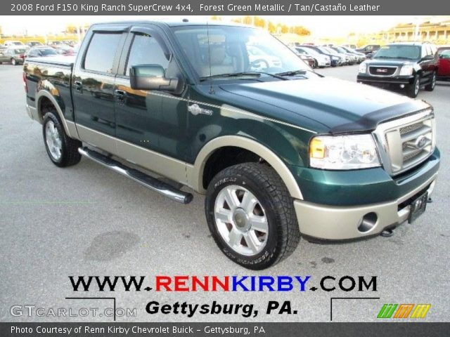2008 Ford F150 King Ranch SuperCrew 4x4 in Forest Green Metallic