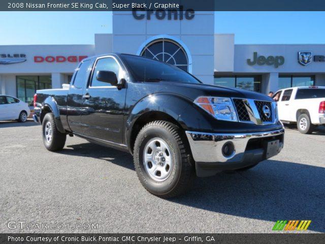 super black 2008 nissan frontier se king cab graphite interior vehicle. Black Bedroom Furniture Sets. Home Design Ideas